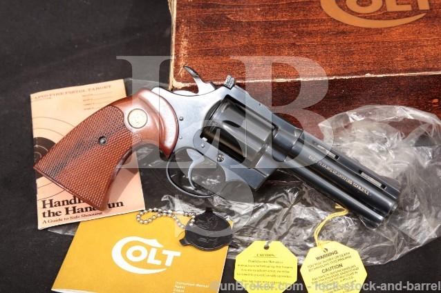 "Colt Diamondback Model D5140 .22 LR Long Rifle Blue 4"" SA/DA Double Action Revolver & Box, 1977"