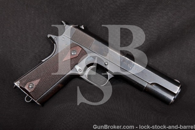 "Colt First Shipment Argentine Navy Government .45 1911 Blue 5"" Semi Automatic Pistol, MFD 1914 C&R"