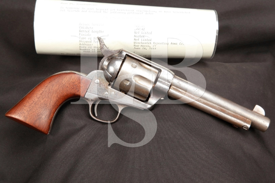 Colt Intermediate Blackpowder1st Generation Frontier Six-Shooter .44-40 Winchester Center Fire SAA Colt Letter SHIPPED TO WINCHESTER, Antique