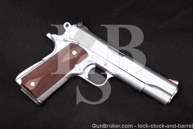 "Colt Jim Hoag Custom Government Model 1911 .45 ACP Chrome 5"" Smith Sights Semi-Auto Pistol 1964 C&R"