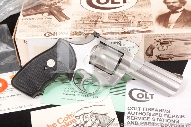 Colt King Cobra AA3040 Stainless 4″ SA/DA Double Action Revolver & Box 1992 .357 Magnum