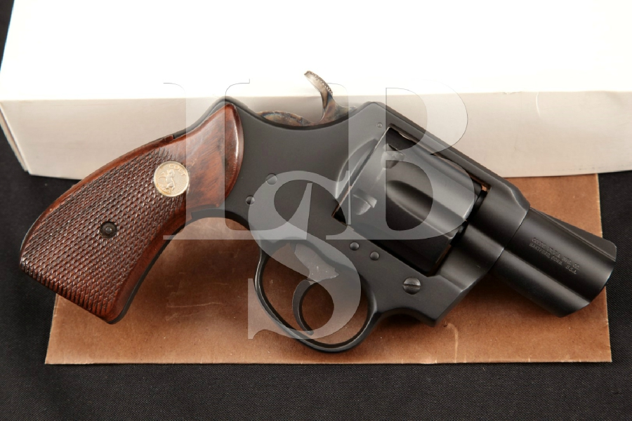 "Colt Lawman Mark III MKIII Snub Nose Model, Sharp Matte Blue 2"" 6-Shot DA/SA Double Action Revolver & Box MFD 1980"
