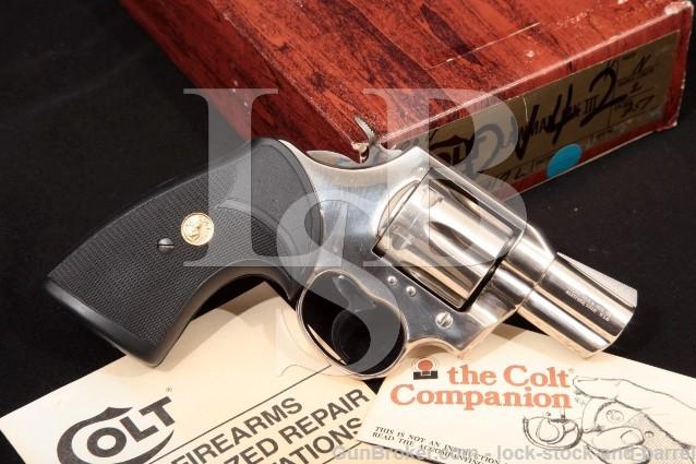 "Colt Lawman Mark Mk III MkIII, Nickel 2"" .357 Mag 6-Shot Double Action Revolver & Box, MFD 1979"
