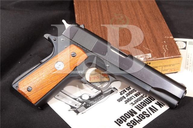Colt MK IV MKIV Mark 4 Series '70 Government Model 1911A1 1911-A1 Pistol & Box MFD 1972 .45 ACP