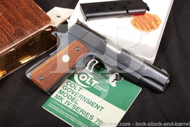Colt MK IV MKIV Series '70 Gold Cup National Match .45 ACP Semi-Automatic Pistol & Box 1978 ATF C&R