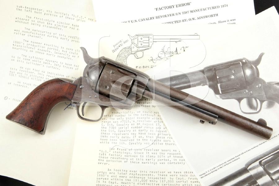 Colt Model 1873 Ainsworth U.S. Cavalry SAA, Photo\'d in Kopec Book ...