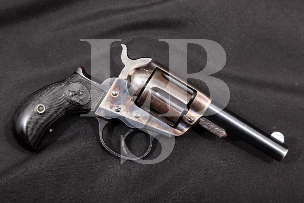 Colt Model 1877 Lightning Shopkeepers Special, Blue/Case 3 Da Double Action Revolver, MFD 1890 Antique .38 Colt