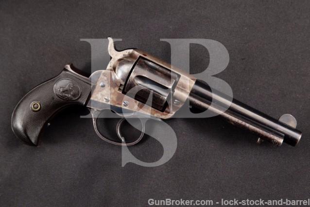 "Colt Model 1877 Thunderer Blue/Case 4 7/16"" Barrel .41 LC Double Action Revolver, MFD 1898, Antique"