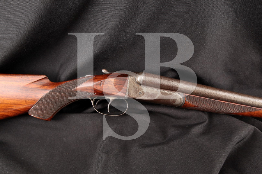 Colt Model 1883 Hammerless, 12 Ga. Damascus & Case Colored 30 INCH Side by Side Dual Trigger Shotgun MFD 1894 Antique