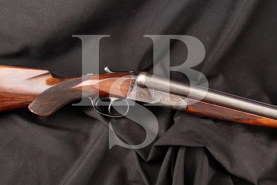 Colt Model 1883 Hammerless, Damascus & Case Colored 32 INCH 10 Gauge Side By Side Dual Trigger SxS Shotgun MFD 1895