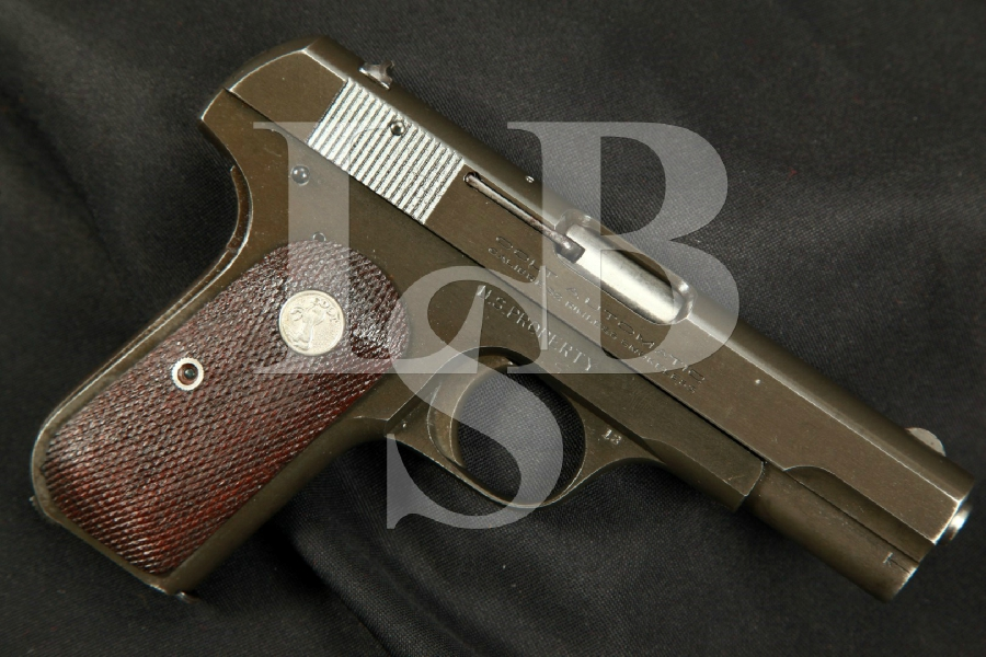 "Colt Model 1903 OSS Issued General Officer's Pistol, 3 ¾"" Semi-Automatic Pistol, MFD 1944 C&R – .32 ACP (7.65mm)"