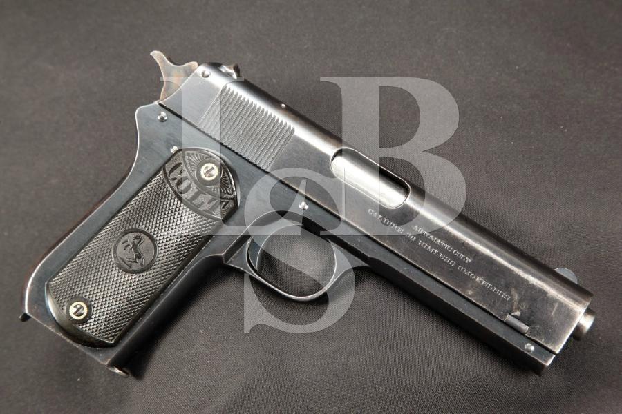 "Colt Model 1903 Pocket Hammer, Blue 4 ½"" SA Semi-Automatic Pistol, MFD 1917 C&R"