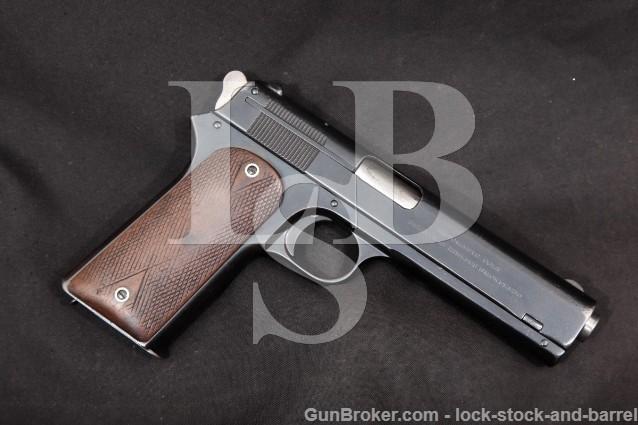 "Colt Model 1905 - The First .45 ACP - 5"" Blue SA Semi-Automatic Pistol, MFD 1907 C&R"