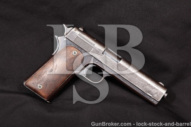 Colt Model 1907 US Trials Pistol, Serial Number 54 .45 2nd Variation Semi-Auto Pistol K.M. Marked C&R