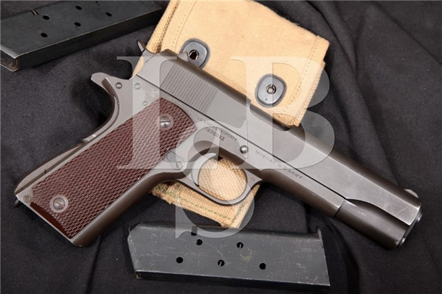 Colt Model 1911A1 1911-A1 U.S. Marked .45 ACP Parkerized 5″ Semi-Automatic Pistol & Mags 1943