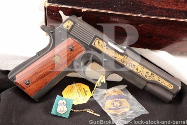 Colt Model 1911A1 U.S. Customs Special Agent .45 Series 70 Government Model Pistol & Box, USC 404