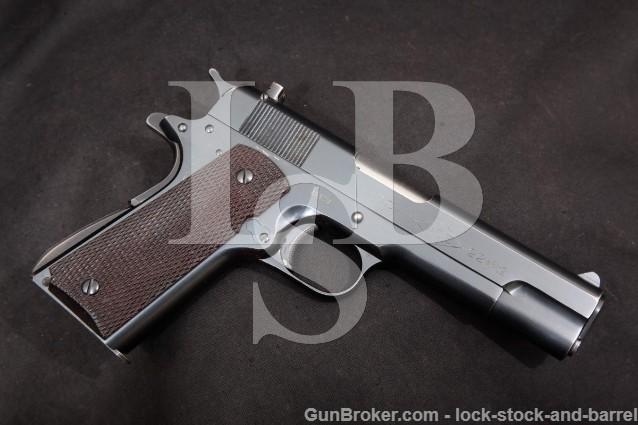 "Colt Model Ace .22 Match Polish Blue 4 3/4"" .22 LR SA Semi-Automatic Pistol, MFD 1947 C&R"