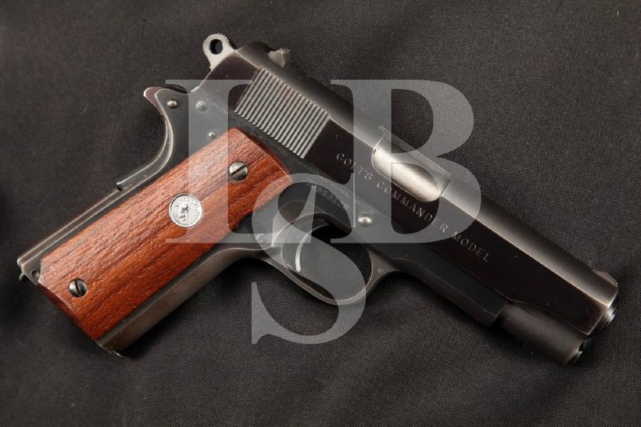 """Colt Model Combat Commander, Blue 4 1/4"""" SA Semi-Automatic Compact Pistol, MFD 1972"""