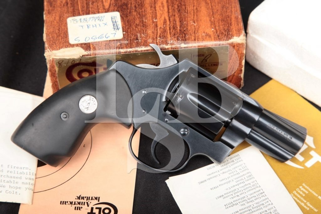 Colt Model Detective Special 3rd Issue, Blue 2″ SA/DA Double Action Revolver, Box & Paperwork, MFD 1979 .38 Special