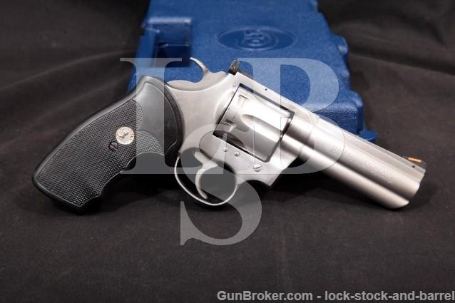 "Colt Model King Cobra Stainless .357 Mag Magnum 4"" 6-Shot Sa/Da Double Action Revolver & Box, 1994"