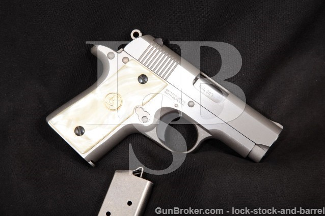 Colt Model White Stallion (Like Mustang) Stainless .380 One Of 500 Semi Automatic Pistol MFD 1994