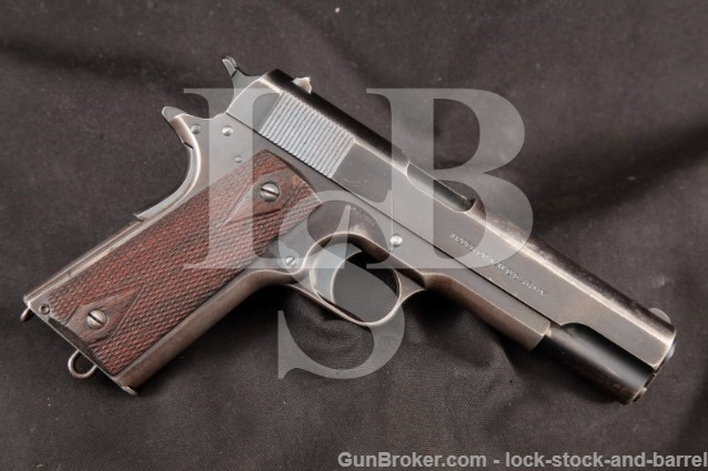 Colt Model of 1911 US Army .45 ACP, Shipped 1914 3/18/1914 Adjutant General New York City, C&R