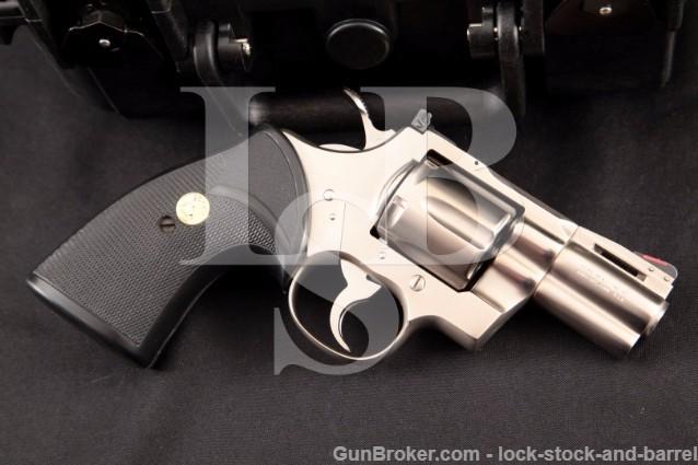 "Colt Python 2.5"" e-Nickel .357 Magnum DA Revolver Electroless Nickel enickel, MFD 1981"