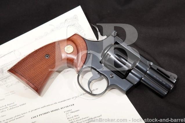 Colt Python Model I3620, Blue 2 1/2