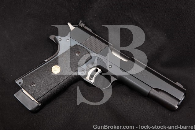 Colt Series '80 MK IV Gold Cup National Match Blue 5″ Semi-Automatic Pistol, 1991 ATF C&R 45 ACP