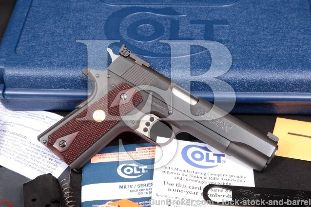 "Colt Series '80 MKIV Gold Cup National Match & Box Blue 5"" Semi-Auto Pistol, MFD 2014 ATF C&R .45 ACP"