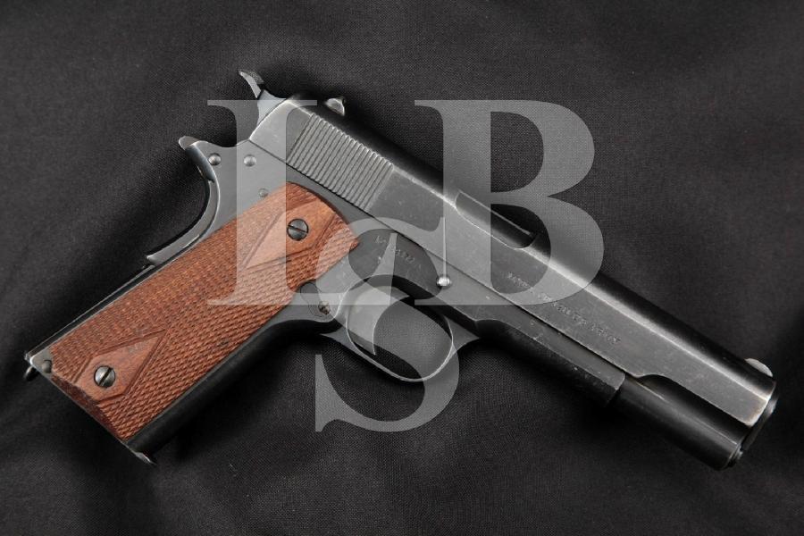 "Colt / Springfield Armory 1911 M1911 RARE SN#129477, Blue 5"" WWI Semi-Automatic Pistol, MFD 1916 - 1924 C&R"