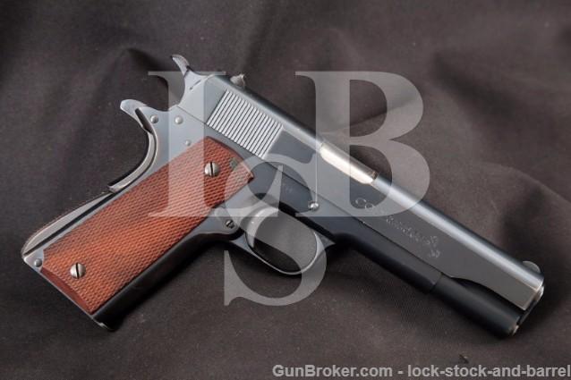 Colt Super .38 Automatic 2nd Model 1911A1 1911-A1 5″ 38 Super Semi-Automatic Pistol, Pre-War, 1937