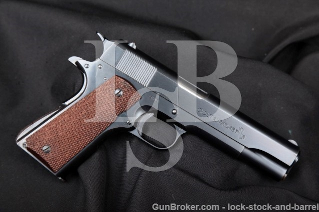 "Colt Super .38 Automatic Government Model 4-DIGIT! Blue 1911A1 5"" Semi-Auto Pistol MFD 1929 1st Year!"