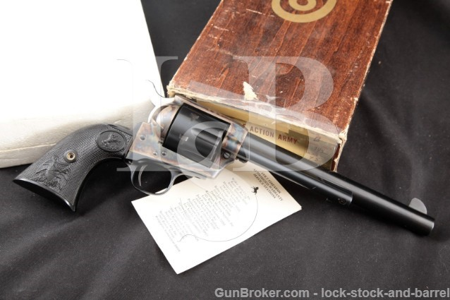 Colt Third 3rd Gen SAA Single Action Army 7.5″ .45 Blue & Case Color SA Revolver & Box, 1976 1st YEAR
