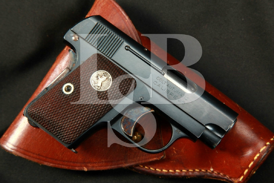 Colt Vest Pocket Model 1908 Hammerless, SA Semi-Automatic Pistol & Holster, MFD 1926 C&R