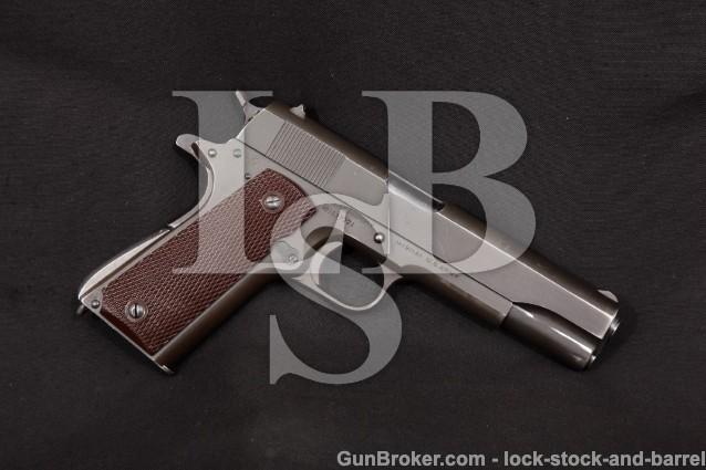 Colt WWII Model 1911-A1 1911A1 MFD 1943, C&R Parkerized 5″ Semi-Auto, U.S. Army Pistol .45 ACP