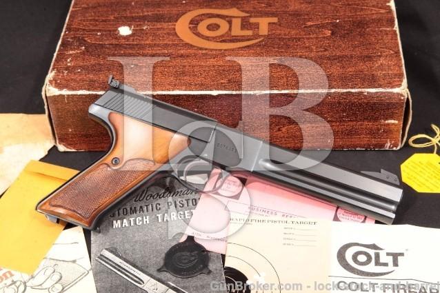 Colt Woodsman Match Target 3rd Series & Box C&R Blue 6″ Semi-Auto Rimfire Pistol, MFD 1969 .22 LR