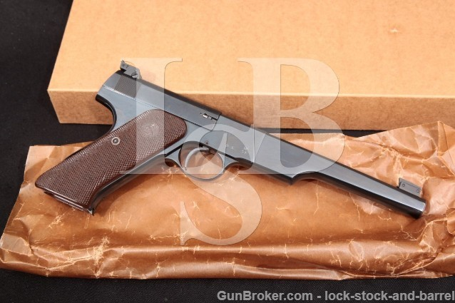 "Colt Woodsman Match Target US Marked 1st Series Early Blue 6 5/8"" Semi-Auto Pistol 1939 C&R .22 LR"