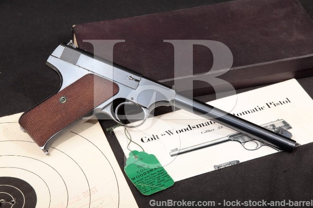 "Colt Woodsman Target Model 1st Series .22 LR Blue 6 5/8"" Semi-Automatic Pistol & Box 1938 C&R"