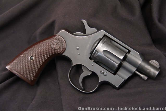Inscribed WII Colt Commando .38 Special Revolver, C&R OK