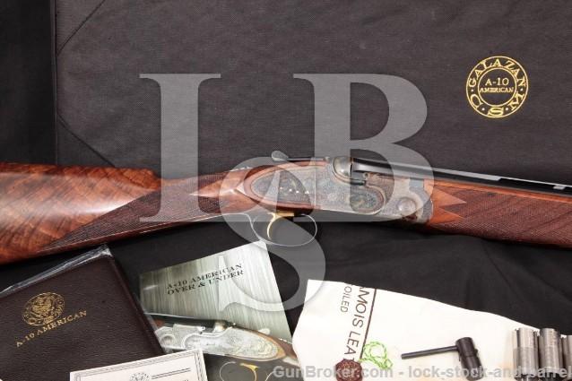 """Connecticut Shotgun A-10 American Rose & Scroll A10 28"""" O/U Double Shotgun, Case & More 12 GA"""