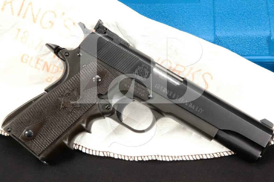 "Custom Arnold Al Capone King's Gun Works Springfield Model 1911A1, Parkerized 5"" IPSC Tuned Semi-Automatic Pistol & , MFD 1990"