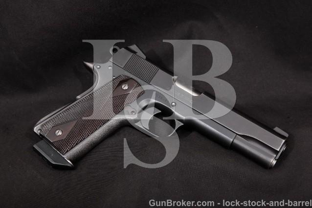 Custom Colt Delta Elite, Blue 5″ SA Single Action Semi-Automatic Pistol, MFD 1989 10mm