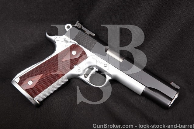 "Custom Colt MK IV Series '70 Government 1911 Blue & Chrome 5"" Semi Auto Pistol, 1977 .45 ACP"