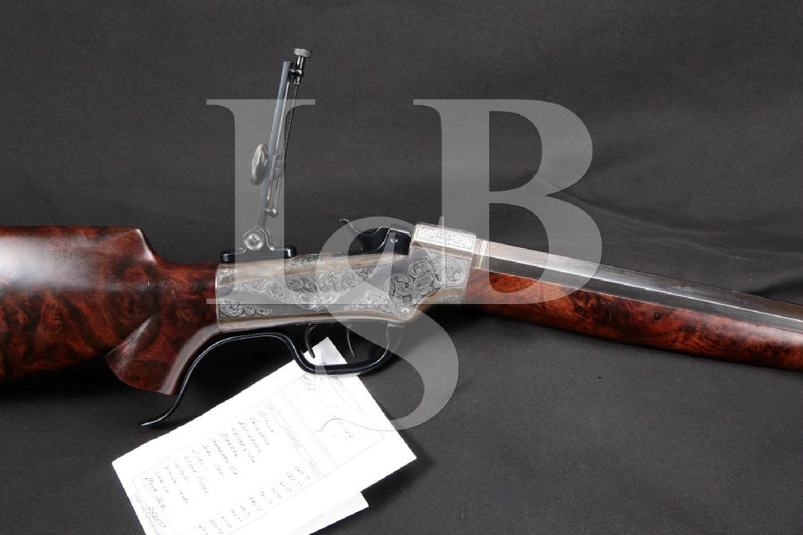 Lock  Stock  amp  Barrel Investments   Part    Custom Eugene Koevenig Engraved Marlin Ballard No   Gallery Schuetzen            Rifle  amp  Double Set Triggers  MFD ca       Antique