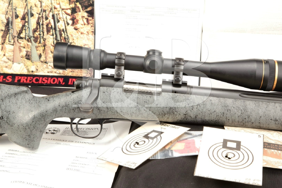 "Custom H-S HS Precision Remington Model 700 Matte Black 26"" Bolt Action Target / Varmint Rifle & Leupold Scope"