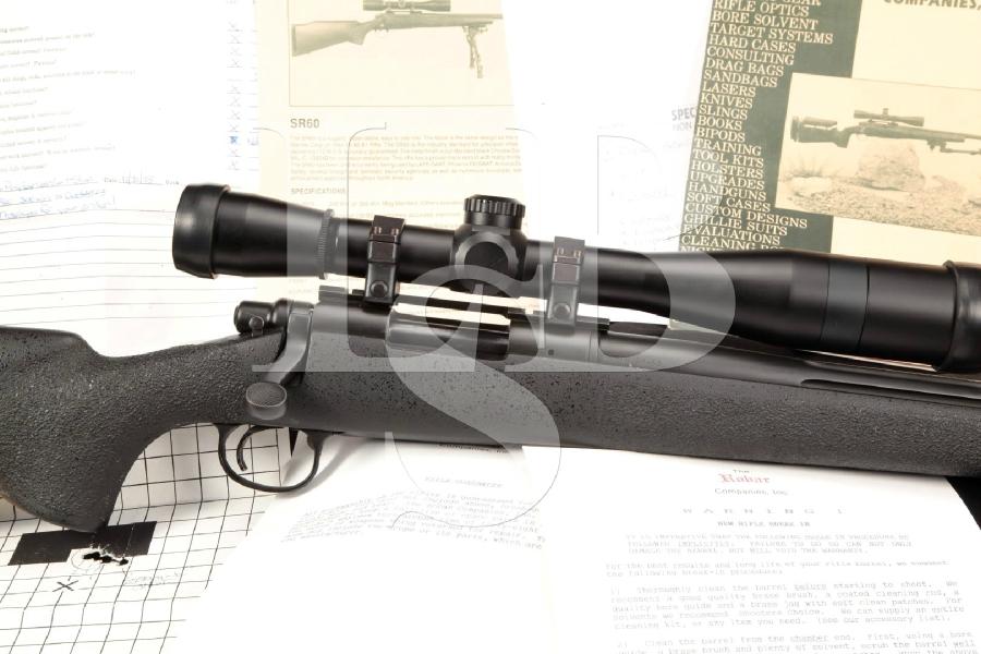 "Custom Precision Robar Tactical Division SR60 Remington 700 Black Chrome Sulphide 26"" Tactical Bolt Action Rifle & Leupold Mk IV Scope"