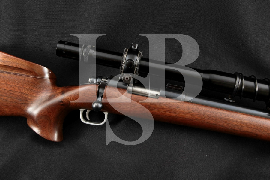 """Custom Remington 40-X Target Model (1st Year) with Bausch & Lomb Scope, Blue 28"""" Single Shot, Bolt Action Rifle, MFD 1956 C&R"""