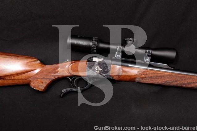 "Custom Ruger No. 1 LH Stock Blue 26"" Falling Block Single Shot Rifle & Burris Scope, MFD 1976 270 Win"