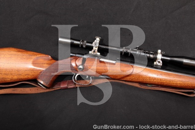 Custom Sako L46 L-46 Winchester 70 .22 Hornet Bbl 22.5″ Bolt Action Rifle & Fecker Scope 1946-62 C&R